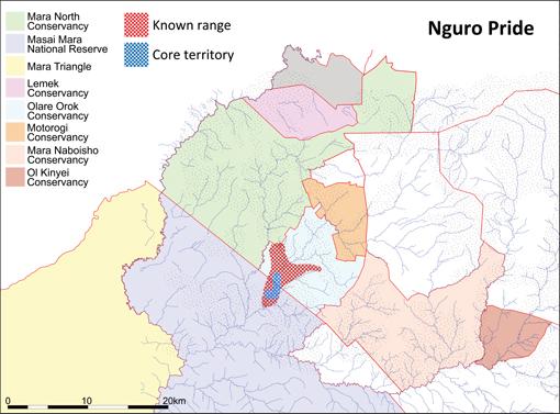 Pride Range Map